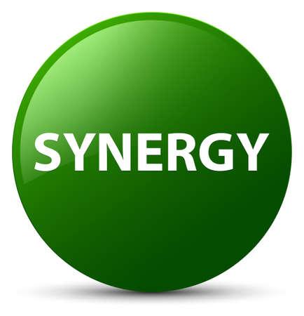 Synergie op groene ronde knoop abstracte illustratie die wordt geïsoleerd