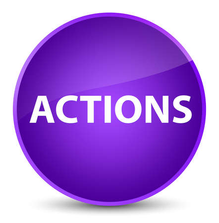 Actions isolated on elegant purple round button abstract illustration Stok Fotoğraf