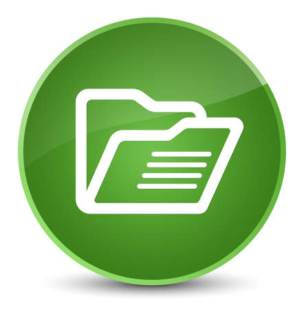 directory: Folder icon isolated on elegant soft green round button abstract illustration