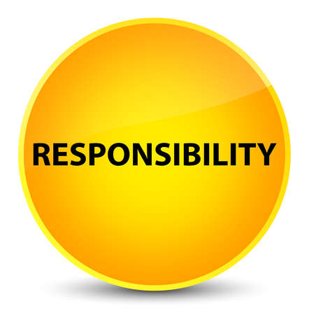 Responsibility isolated on elegant yellow round button abstract illustration