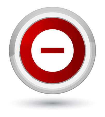 Cancel icon isolated on prime red round button abstract illustration