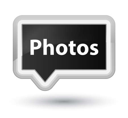 Photos isolated on prime black banner button abstract illustration Stock Photo