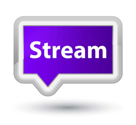 Stream isolated on prime purple banner button abstract illustration