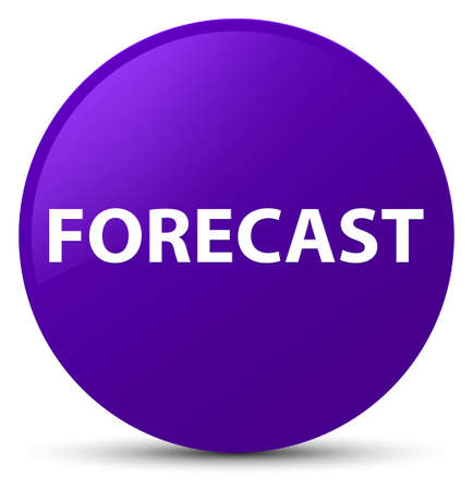 Forecast isolated on purple round button abstract illustration