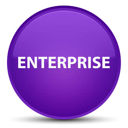 Enterprise isolated on special purple round button abstract illustration