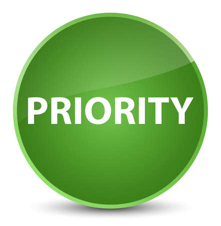 Priority isolated on elegant soft green round button abstract illustration