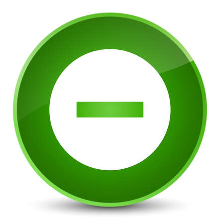 Cancel icon isolated on elegant green round button abstract illustration