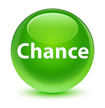 Chance isolated on glassy green round button abstract illustration