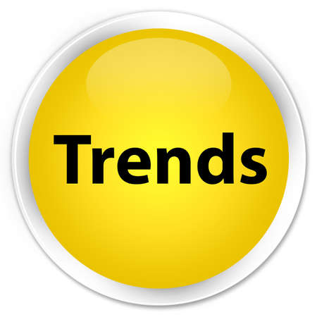 Trends isolated on premium yellow round button abstract illustration
