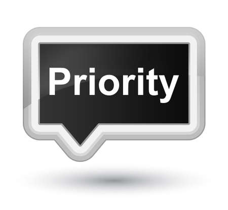 Priority isolated on prime black banner button abstract illustration