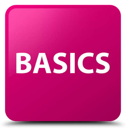 Basics isolated on pink square button abstract illustration Фото со стока