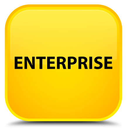Enterprise isolated on special yellow square button abstract illustration