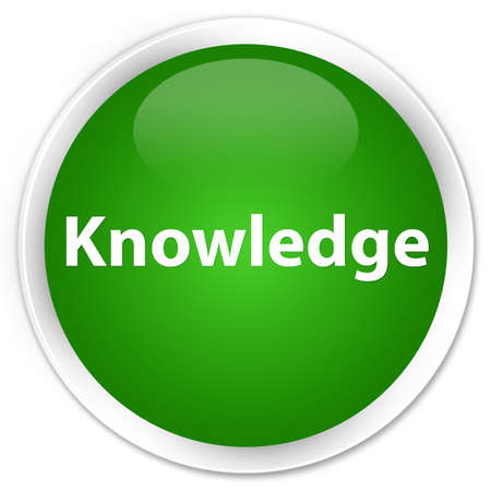 Knowledge isolated on premium green round button abstract illustration Banque d'images