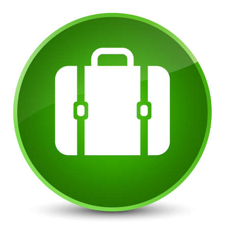 briefcase: Bag icon isolated on elegant green round button abstract illustration