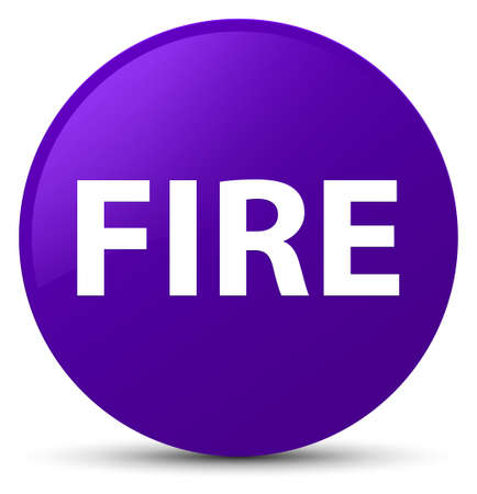 Fire isolated on purple round button abstract illustration