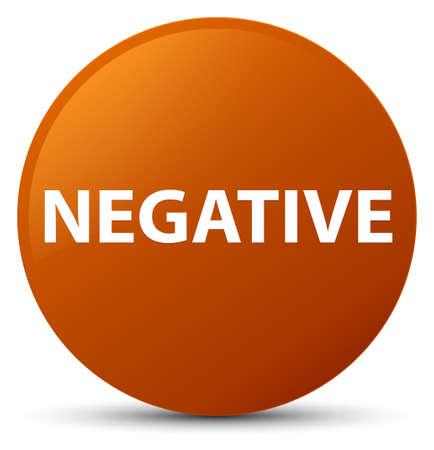 Negativo isolado na ilustração abstrata de botão redondo marrom Foto de archivo - 89527495