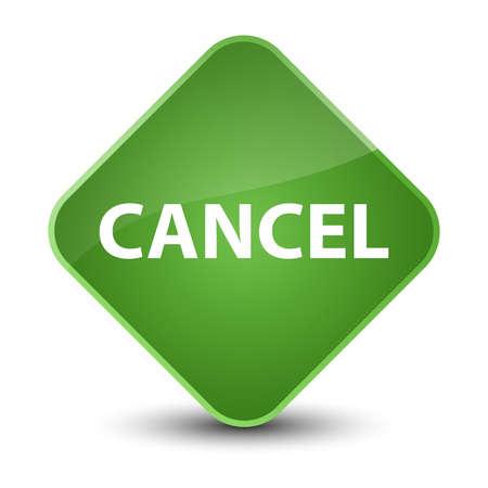 Cancel isolated on elegant soft green diamond button abstract illustration