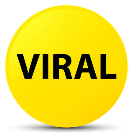 Viral isolated on yellow round button abstract illustration Stock Photo