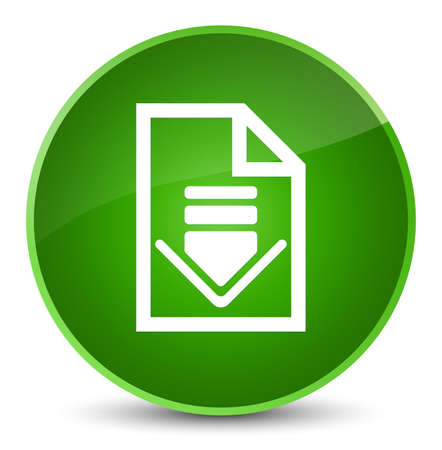 Download document icon isolated on elegant green round button abstract illustration