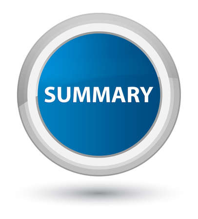 Summary isolated on prime blue round button abstract illustration