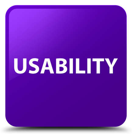 Usability isolated on purple square button abstract illustration