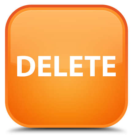 Delete isolated on special orange square button abstract illustration Stock Photo