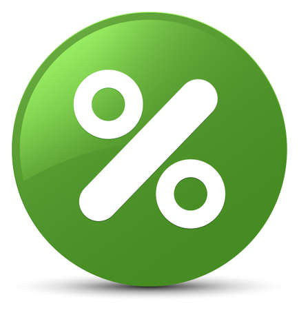 Discount icon isolated on soft green round button abstract illustration