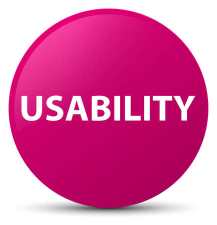 Usability isolated on pink round button abstract illustration