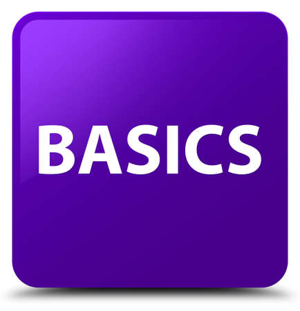 Basics isolated on purple square button abstract illustration