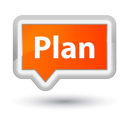 Plan isolated on prime orange banner button abstract illustration Stock Photo