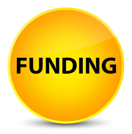 Funding isolated on elegant yellow round button abstract illustration