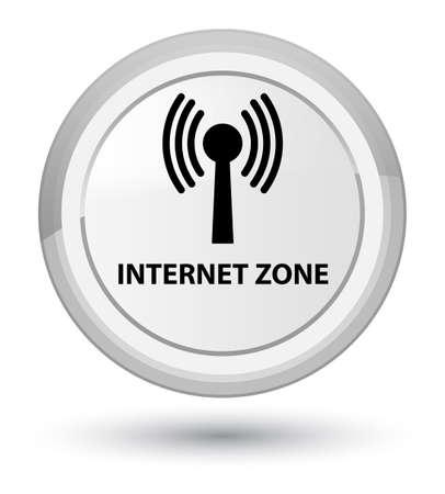 Zone Internet (réseau WLAN) isolé sur illustration abstraite du bouton rond blanc Banque d'images - 89527718