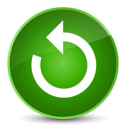 Refresh arrow icon isolated on elegant green round button abstract illustration Stock Photo