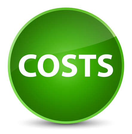 Costs isolated on elegant green round button abstract illustration