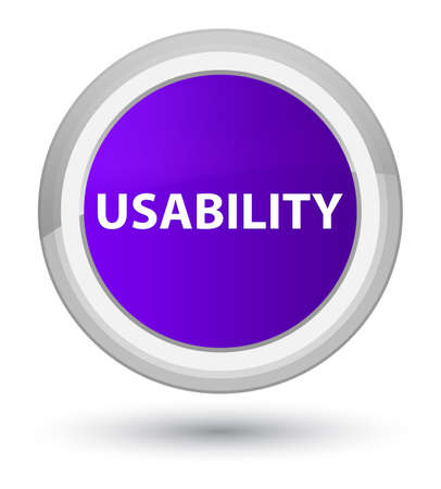 Usability isolated on prime purple round button abstract illustration