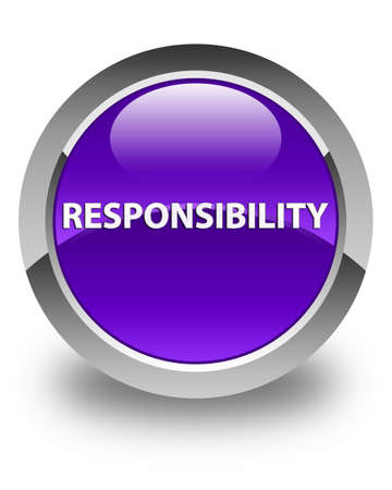 Responsibility isolated on glossy purple round button abstract illustration