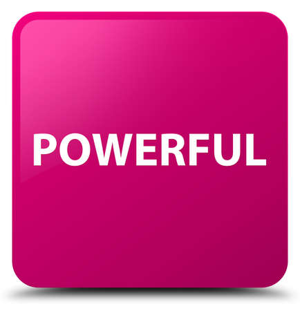 Powerful isolated on pink square button abstract illustration