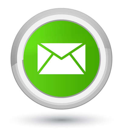 Email icon isolated on prime soft green round button abstract illustration Stock Photo