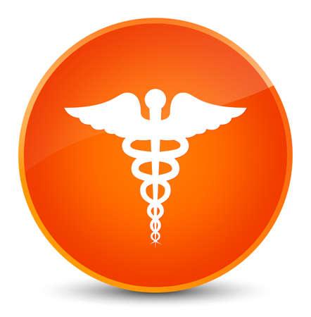 Medical icon isolated on elegant orange round button abstract illustration