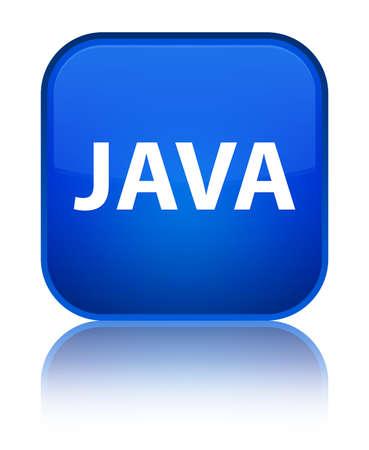 特別な青い四角のボタンに分離された Java は、抽象イラストを反射