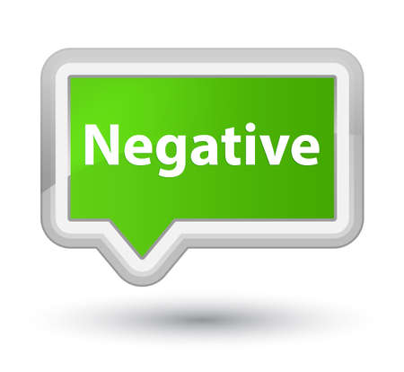 Negative isolated on prime soft green banner button abstract illustration