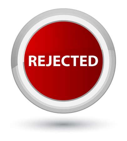 プライムレッドラウンドボタンの抽象的なイラストに分離拒絶