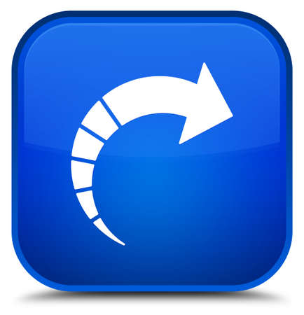 Next arrow icon isolated on special blue square button abstract illustration Stock Photo