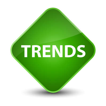 Trends isolated on elegant green diamond button abstract illustration
