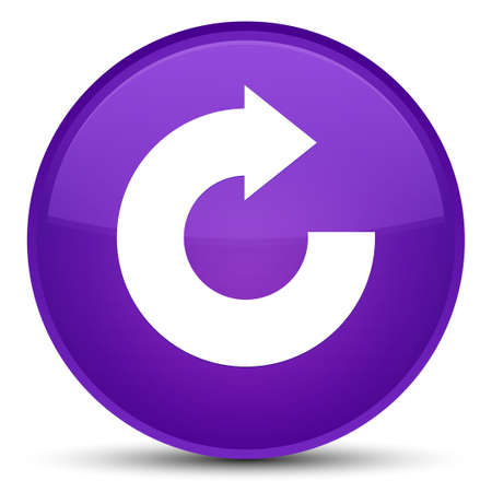 Reply arrow icon isolated on special purple round button abstract illustration