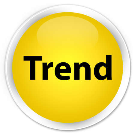 Trend isolated on premium yellow round button abstract illustration Stock Photo