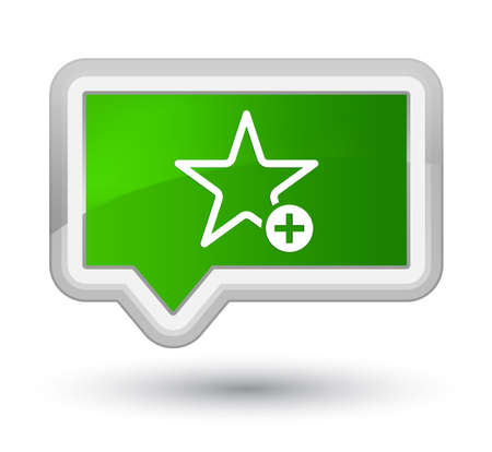 Add to favorite icon isolated on prime green banner button abstract illustration Stock Photo