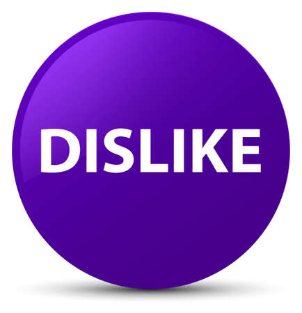 Dislike isolated on purple round button abstract illustration Stock Photo