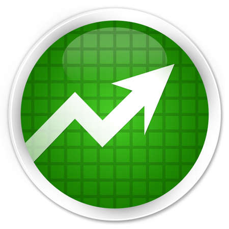 Business graph icon isolated on premium green round button abstract illustration Stock Photo