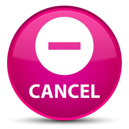 Cancel isolated on special pink round button abstract illustration